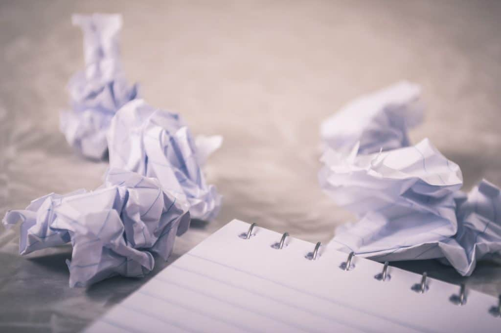 Pile of crumpled papers
